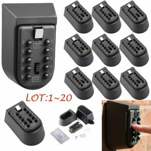 Lot Key Safe Lock Box Home Security Storage Case W Code Combination Password To