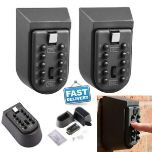 2x Key Safe Lock Box Home Security Storage Case W Code Combination Password Fa