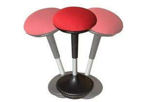 Office Tall Swivel Height Adjustable Active Sitting Balance Stool Chair Red New
