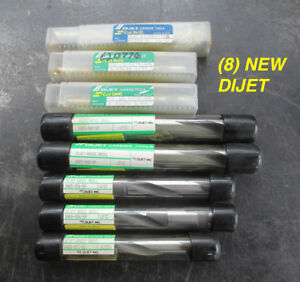 Wholesale Lot Of 8 New Assorted Dijet Carbide Tipped Coolant Thru Drill Bits