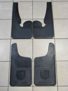 Dodge Ram Front Rear Heavy Duty Rubber Mud Flaps W O Fender Flares New Oem Mopar
