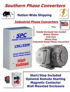 20 Hp Rotary Phase Converter industrial Cnc Grade extreme Duty Tefc