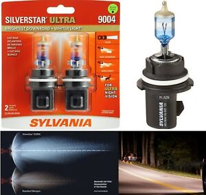 Sylvania Silverstar Ultra 9004 Hb1 65 45w Two Bulbs Head Light Dual Beam Upgrade