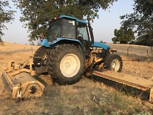 1999 New Holland 8260 4x4 Diesel Tractor 2 Attachments Works Good