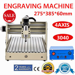4 Axis 3040 Cnc Router Engraver Engraving Drilling Milling Carving 400w 3d Cut