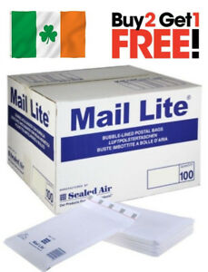 1000 X A 000 Mail Lite Sealed Air Padded Envelopes Bubble Lined White