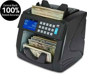 Mixed Denomination Bill Counter Machine Cash Money Currency Counting Detector