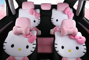 Hello Kitty Car Seat Covers Plush Cute Pink Full Set For Lady