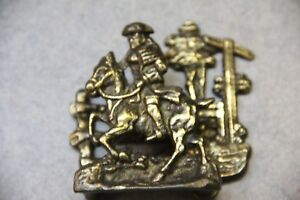 Paul Revere Business Card Holder Figurine Office Decorative Made Of Brass Metal