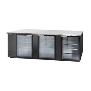 Titan Tibb95g b Back Bar Glass Door Refrigerator 3 Door 95 Inch