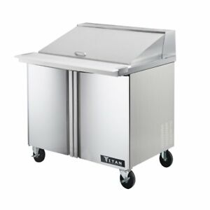 Titan Timu36 15 Mega Top Sandwich Prep Tables 2 Door 15 Pans 36 Inch