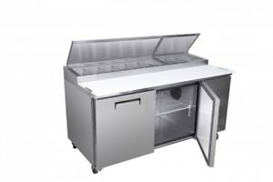 Titan Xtpz67 Pizza Prep Tables 2 Door 71 Inch call For Availability
