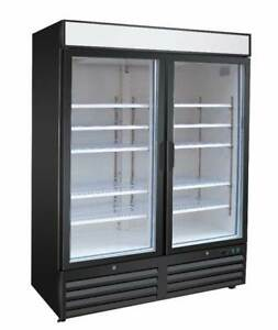 Titan Xtgm49r Xt Series Glass Door Merchandisers Swing Refrigerator 2 Door