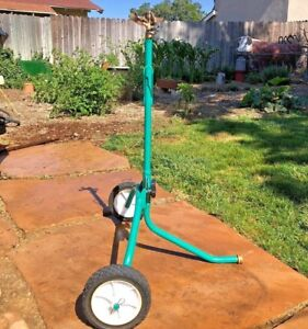 New 1 2 Rolling Sprinkler Base With New Rain Bird 25pj Turf Garden Dust Etc