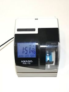 Amano Pix 75 A187 Time Clock Recorder Works Great