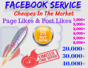 Facebook Page Lik s Post Lik s Video Vi ws Comm nts guaranteed Lifetime