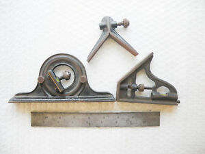 Union Tool Company Combination Square Set Used Machinist Tool