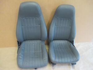 98 99 Camaro Rs Ss Z28 Med Gray Leather Front Seat Seats 0510 11