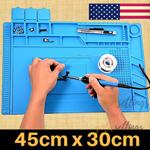 Heat Station Silicone Soldering Mat Magnetic Solder Desk Cover Work Bench Pad