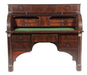 Empire Style Bureau A Cylinder 19th Century 1800s