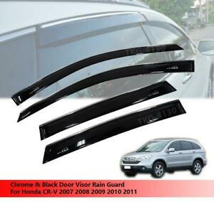 4 Door Visor Rain Guard For Honda Crv Cr v 2007 2008 2009 2010 2011