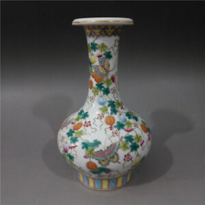Fine Chinese Antique Blue White Porcelain Butterfly Vase