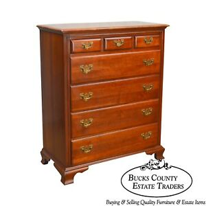 Link Taylor Vintage Solid Cherry Treasure House Tall Chest