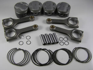 Jdm Nippon Racing 84 50mm Integra Type R Pistons Rings Scat Rods Itr B20 Vtec