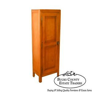 Country Antique 19th Century Poplar Pine Chimney Cupboard From Lehigh Valley