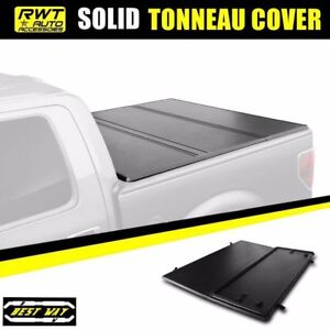 Hard Solid Lock Tri Fold Tonneau Cover For 94 03 Chevy S10 Gmc S15 6ft 72 Bed