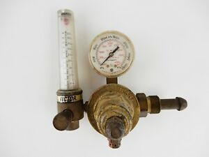 Victor Inert Gas Hvts Regulator 2537 W Flowmeter Gauge