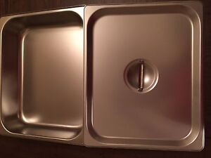 Lot Of 5 Update International Sph 502 Steam Table Pan With Lids
