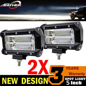 5 Inch 680w Led Work Light Bar Flood Combo Pods Driving Off Road Tractor 4wd 12v