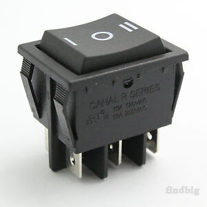 Rocker Switch No Momentary Canal R Light Country R 10t85 6pin Black