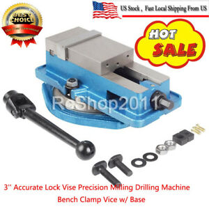 3 Precision Milling Drilling Machine Lock down Vise Swivel Hardened With Base