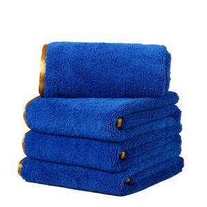 6 Pcs Microfiber Towels Elite Deluxe House Car Cleaning Clothes 16 X24 Blue