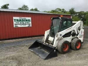 2010 Bobcat S650 Skid Steer Loader With Cab And High Flow Hydraulics
