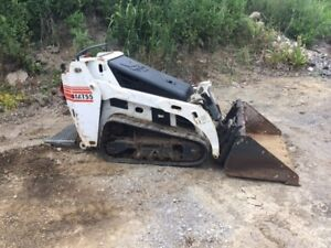 2011 Bobcat Mt55 New Engine Mini Skid Steer Track Loader Kubota Diesel Boxer