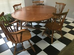 Mid Century Modern Dining Table 5 Chairs Buffett Side