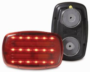 Custer Red Led Battery Powered Magnetic Safety Light Hf18r Phd Heavy Duty