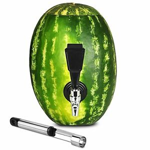 Fruit Keg Tapping Spout Kit Stainless Steel Drink Dispenser Set For Watermelon