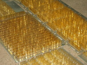 24lbs Augat Nos Gold Pins Dip Ic Protyping Prototyping Wire Wrap Boards