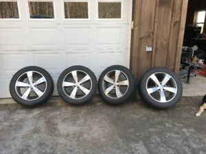 20 Jeep Grand Cherokee Overland Pvd Chrome Wheels Rims Factory Oem Set W Tires