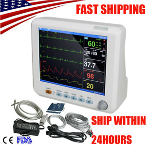 Portable Medical Patient Monitor 6 parameter Icu Ccu Vital Sign Cardiac Machine
