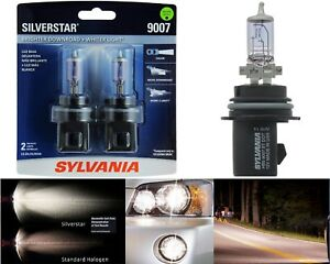 Sylvania Silverstar 9007 Hb5 65 55w Two Bulbs Headlight High Low Beam Upgrade Oe