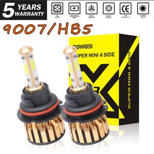 9007 Hb5 Led Headlight Conversion Kit 2000w 350000lm High Low Beam Bulbs 6000k