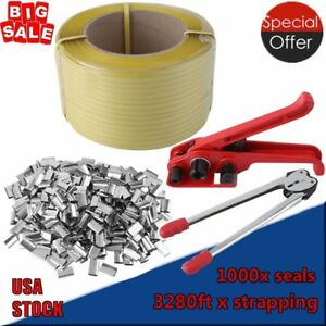 Complete Packaging Strapping Tool Kit 1000 Seals Banding Rolls 3280 Ft Supply Us
