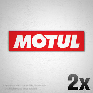 2x Motul Logo Vinyl Sticker Decal F1 Racing Grand Prix Sponsor Oil Rc019