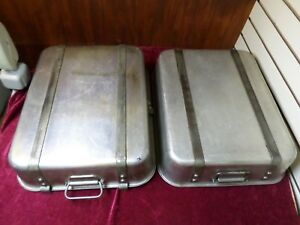 2x Wear ever 4482 16 X 20 Aluminum Strapped Roaster Pan Vtg Vollrath Lot