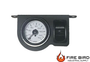 V Air Ride Suspension Single Needle Gauge Panel 200psi 1 Paddle Switch Control